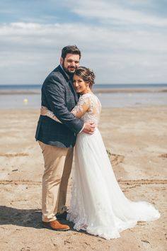 Mari and Daniel's day was all about relaxed beachy vibes, with Spring in the sea air and vintage rustic details galore. Beach Wedding Groom, Beach Weddings, Gorgeous Wedding Dress, Perfect Wedding, Beach Wedding Inspiration, Wedding Ideas, Wedding Day Timeline, Groom Style, Boho Bride