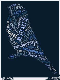 Gemaakt door Tim met het oefenen van woordjes (spelling) rond het thema vogels. lekker veel open- en gesloten lettergrepen. Gemaakt met programma Tagxedo.com