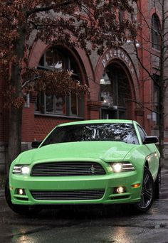 Ford Mustang in envy green