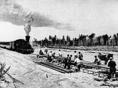 The TSR was built in sections between 1891 and 1916 (this photo is circa 1903), with significant delays caused by unforgiving winters and inhospitable terrain. Thousands of soldiers, prisoners, and peasant migrants from Western Russia and Ukraine labored on these rails. The Baikal region, in particular, proved challenging, forcing workers to tunnel through mountains and erect bridges over gaping canyons. When construction was finally completed, it was a triumph.