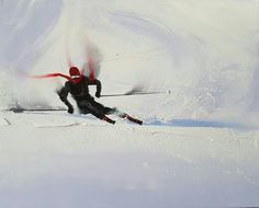 Shredding fresh powder in Powerful ski, to move ahead of the competition. Be the best. Canadian Art, Ski Fashion, Whistler, British Columbia, Skiing, Competition, Freedom, Powder, Fresh