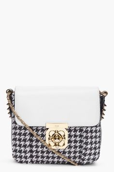 Take on the evening with Chloe houndstooth 'Elsie' evening bag $898, get it here: http://rstyle.me/~9OnI