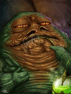 Jabba The Hutt by Fluorescentteddy