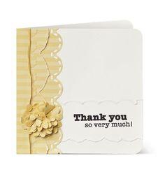 Fabulous Thank You Scrapbooking Card Idea from #CreativeMemories    http://www.creativememories.com