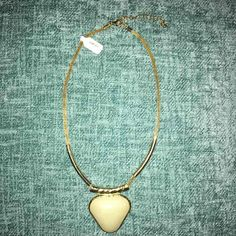 Gold Necklace W/ Pearl Color Stone - Mercari: Anyone can buy & sell