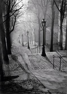 Brassaï - Escalier de la Butte Montmartre (Paris, circa 1931).