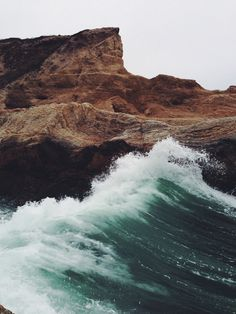 She's calm and then a torrent of waves. Kind of like us, the ocean, isn't she?
