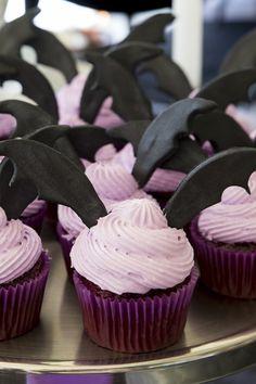 Vampirina-inspired Bat Cupcakes from a Disney's Vampirina Inspired Birthday Party on Kara's Party Ideas | KarasPartyIdeas.com (14)