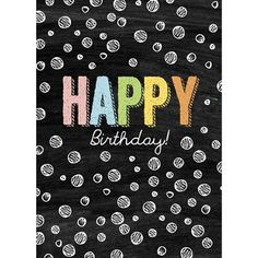 Chalkboard Happy Birthday Card by Graphique de France. Only $3.50! #chalkboard #greetingcard #birthday