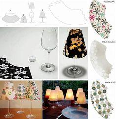 Lampička ze sklenky na víno