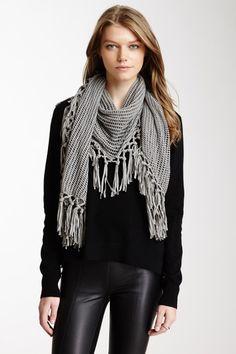 Crochet Knit Shawl by Inhabit on @HauteLook
