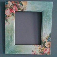 Diy Crafts To Do At Home, Easy Diy Crafts, Picture Frame Decor, Wood Picture Frames, Decoupage Box, Decoupage Vintage, Diy Painting, Painting On Wood, Japan Crafts
