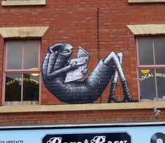Phlegm creates a brand new mural on the streets of Sheffield, UK