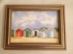 Watercolour Southwold beach huts by Alison crisp