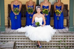 Blue/Yellow wedding - I love this BRIGHT blue!!