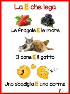 Italian Lessons, Baby Corner, Italian Language, Learning Italian, School Resources, Emoticon, Kids Learning, Homeschool, Teaching