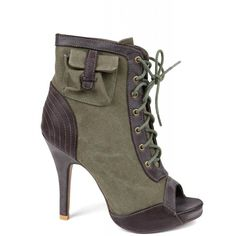 ulla (11345 RSD) ❤ liked on Polyvore featuring shoes, boots, ankle booties, heels, women, обувь, open toe bootie, heeled booties, open toe lace up booties and open toe booties