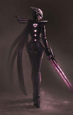 by: 神羅 | LOL Fiora | via {Pixiv} | {Facebook} - league of legends & anime