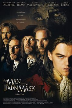 The Man in the Iron Mask starring Leonardo DiCaprio, Jeremy Irons, John Malkovich, Gerard Depardieu & Gabriel Byrne. John Malkovich, Gabriel Byrne, See Movie, Film Movie, Movies Showing, Movies And Tv Shows, Leonardo Dicaprio Movies, Metro Goldwyn Mayer, Bon Film