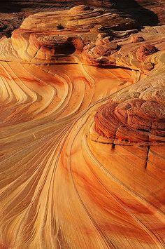 Wavy rock formation