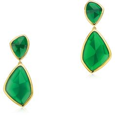 MONICA VINADER Siren Cocktail Earrings ($561) ❤ liked on Polyvore featuring jewelry, earrings, cocktail earrings, evening jewelry, cocktail jewelry, holiday jewelry and oversized earrings