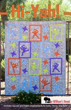 Hi-Yah! Ninja Applique Quilt Pattern