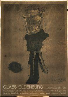 """Street Figure""; Claes Oldenburg; 1975; Lithograph;   Lenbachhaus, Munchen"