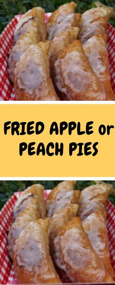 FRIED+APPLE+or+PEACH+PIES Dried Apples, Just Desserts, Delicious Desserts, Yummy Food, Pie Recipes, Dessert Recipes, Cooking Recipes, Recipies, Bon Appetit