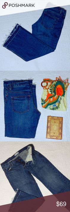 Free People Distressed Boyfriend Jeans Cute Free People jeans with distress on the hems, and stylish buttons. No signs of wear. These jeans are perfect for any season. Amazing quality jeans. Offers welcomed! Free People Jeans Boyfriend