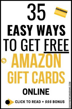 Want to get FREE gift cards? These 35 online sites will give you free gift cards when you complete simple tasks. If you prefer cash to gift cards, you can redeem your rewards as real cash through PayPal. Earn extra money and put it towards paying off debt or savings.  #giftcards #amazon #makemoneyonline #moneymakingideas