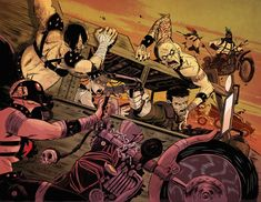 Fury Road for MAD MAX tribute book. by greenestreet on DeviantArt