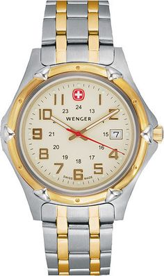 Wenger Two Tone Stainless Steel Champagne Dial Men's Watch [73117] Price: $ 275.00 RETAIL