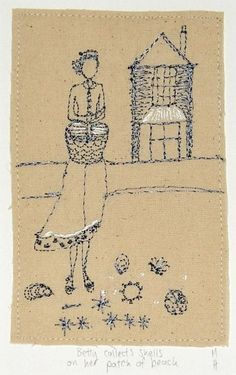 Betty collects shells on her patch of beach: Michelle Holmes