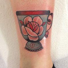 fresh teacup #tattoo by Jody Dawber