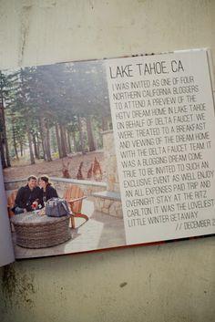 Simple and classic photo book spread ideas - Lake Tahoe Trip: Blurb Photo Book | @blurbbooks