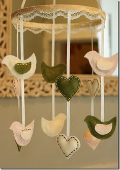 Nursery Mobile: could hand sew and would use different colors.