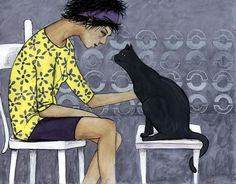 Cat Talk Canvas Print / Canvas Art by Georgiana Chitac