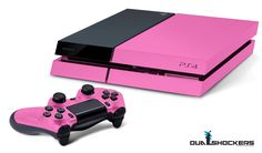 Photoshopped PS4. The power of pink compels you.