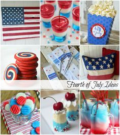 Fourth of July Treats, Printables and Decor