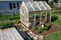 serre diy jardin aménagement plantes bacs à fleurs idées