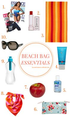 beach bag essentials // perfect for your next vacation or trip to the beach