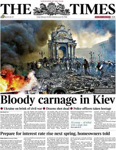 The Times front page, 21/2/14
