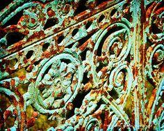 Beautiful iron gate rusted