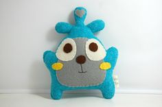 Alex Eco Friendly Plushie Stuffed Toy Monster by vivikas on Etsy, $16.00