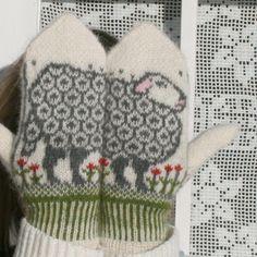 Sauevotter - sheep mittens!!