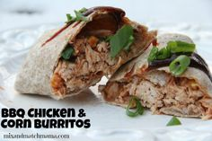 Dinner Tonight: BBQ Chicken and Corn Burritos