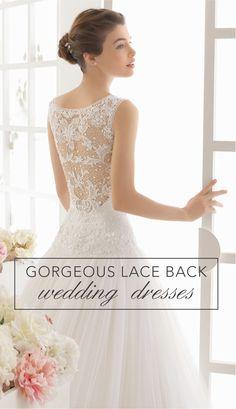 Gorgeous Lace Back Wedding  Dresses