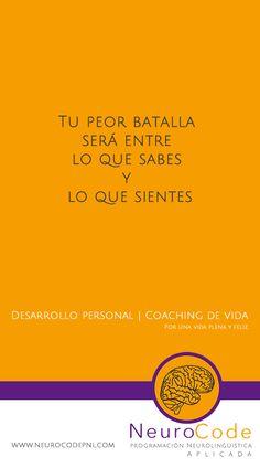 Tu peor batalla es interna; Coaching de vida Monterrey, frases motivadoras de coaching de vida. Desarrollo Personal para desatar el potencial humano. #PNL #lifecoaching #coachingdevida #desarrollo #personal