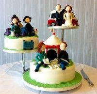 Three Tier Novelty Wedding Cake