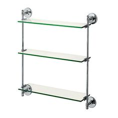 Shelves 31385: Gatco 1394 Premier Threetier Glass Bathroom Shelf -> BUY IT NOW ONLY: $124 on eBay!